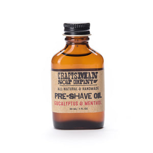 Pre-Shave Oil, One Ounce Flask