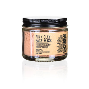 Face Mask, Pink Clay