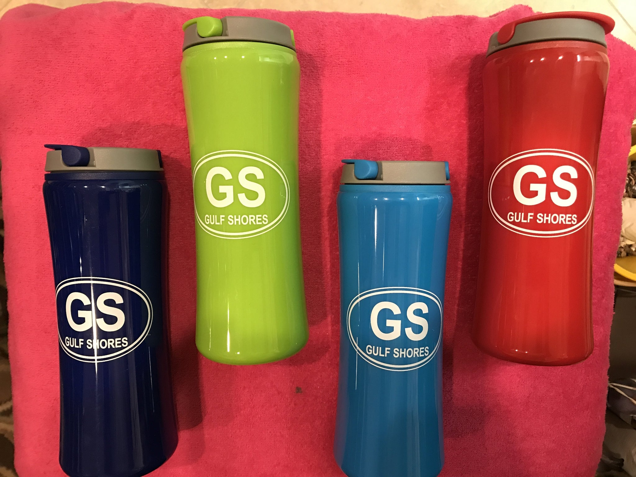 Plastic Gulf Shores Water Bottle