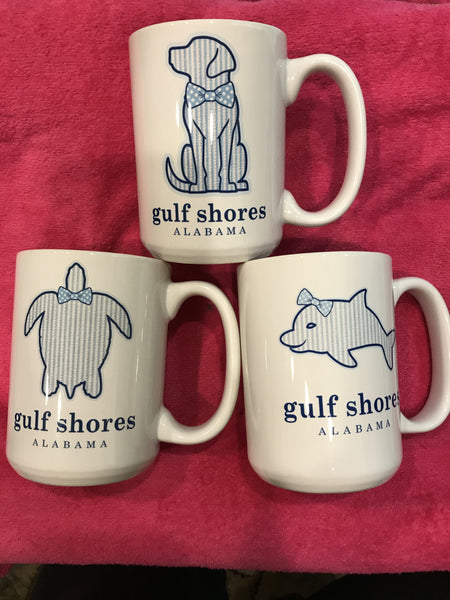 Gulf Shores Preppie Coffee Cups