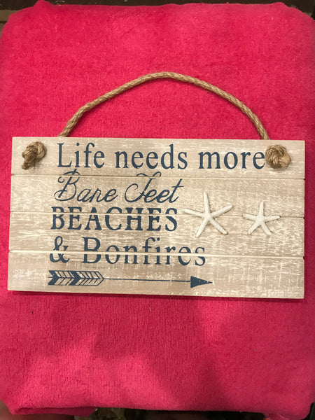Life Needs Wall Plaque