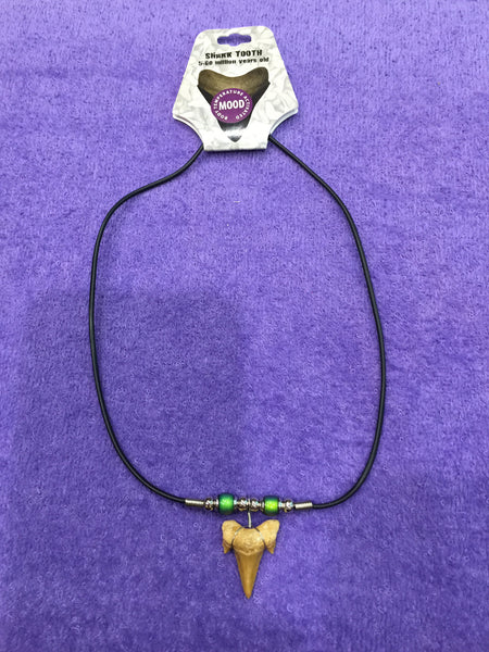 Shark Tooth Necklace w/Mood Beads