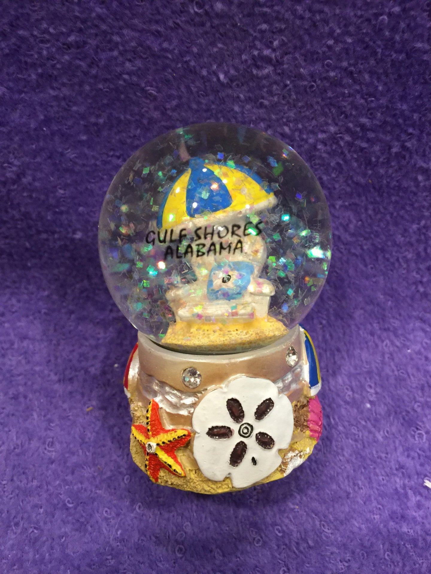 Small Jeweled GS Beach Chair Snowglobe