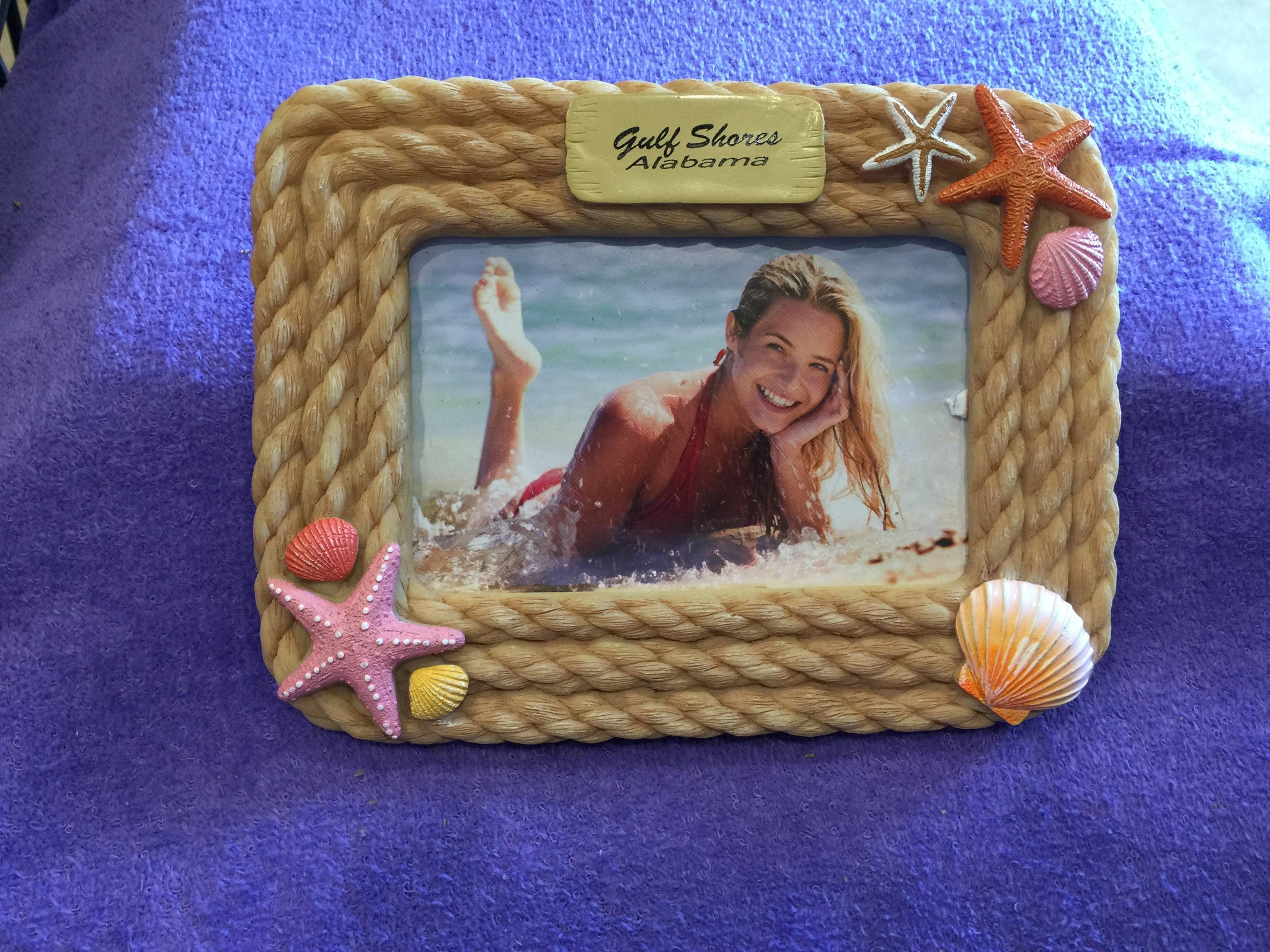 Resin Rope and Sea Shells Picture Frame