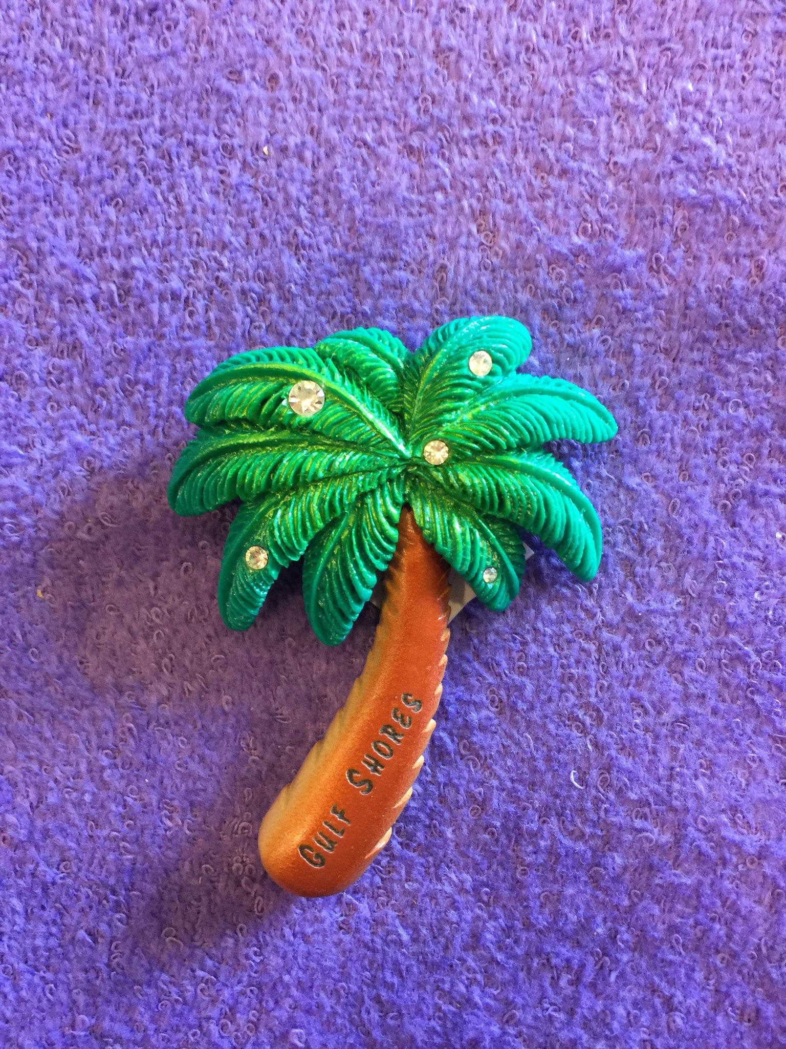 Clay Critters Jeweled Palm Tree Magnet
