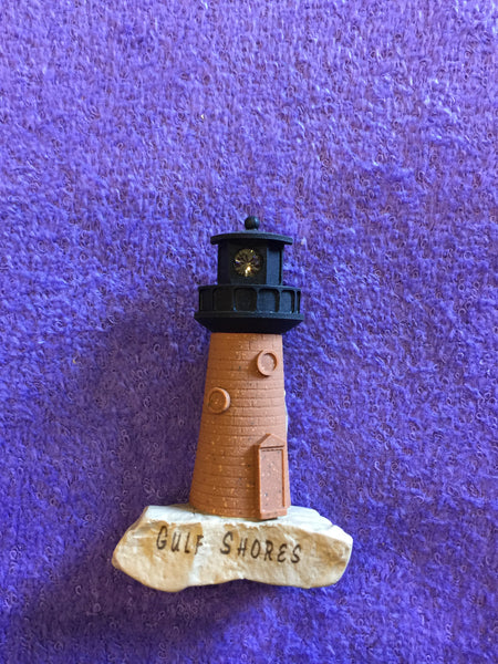 Clay Critters Lighthouse Magnet