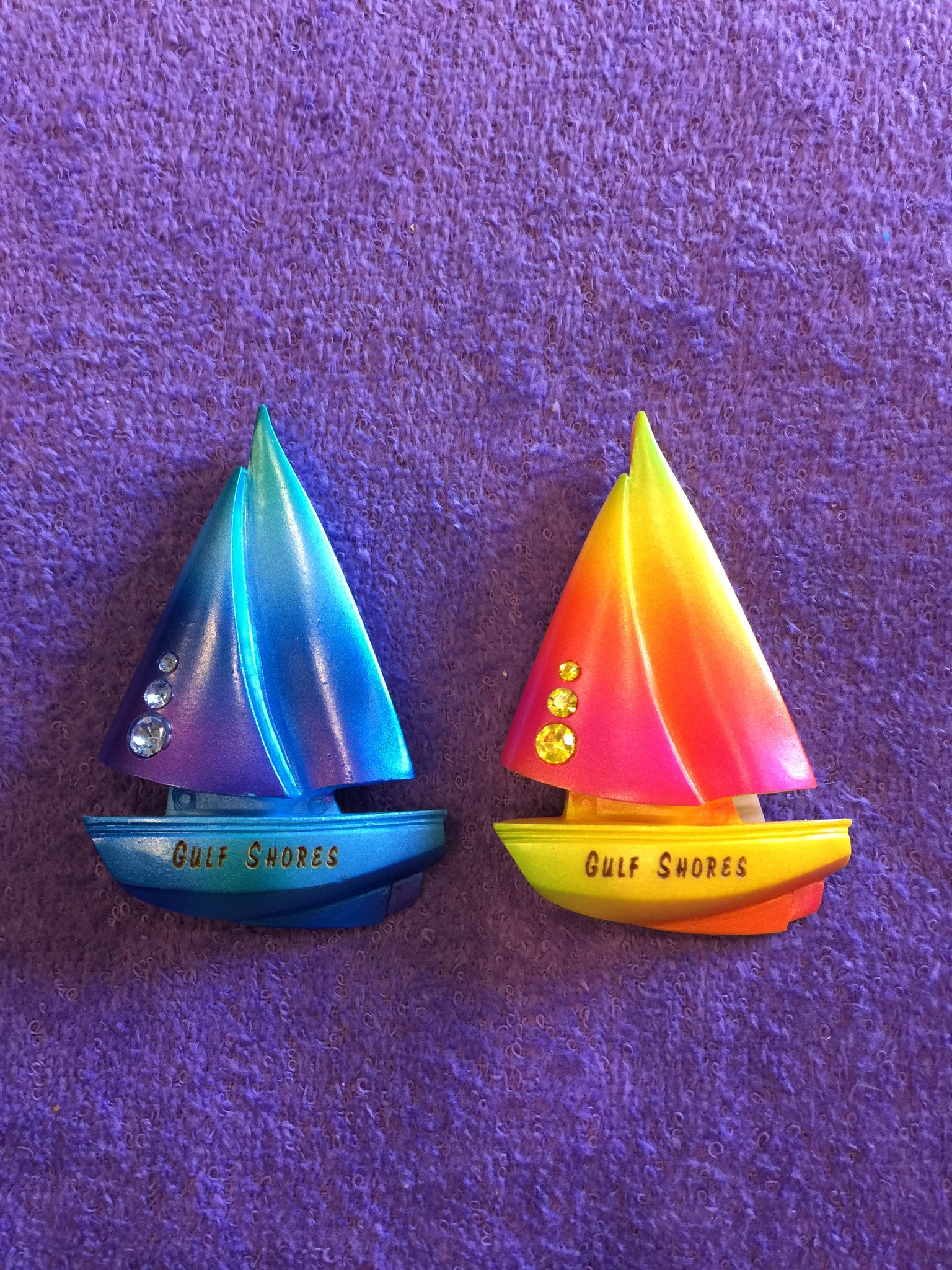 Clay Critters Sailboat Magnet