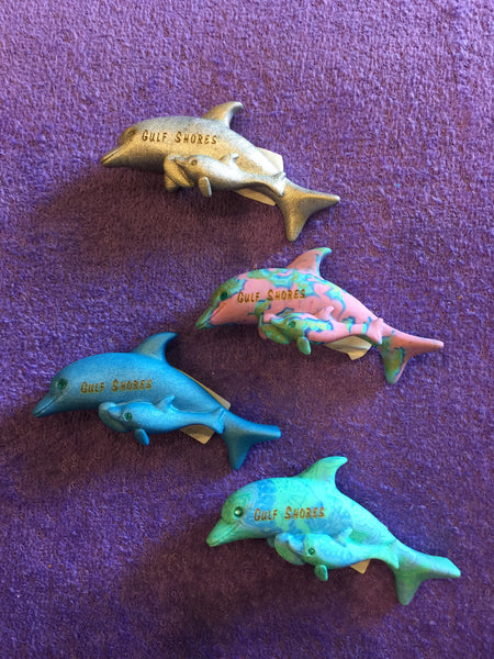 CLay Critters Dolphin w/Baby Magnet