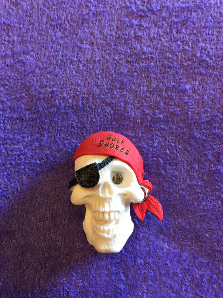Clay Critters Pirate Skull Magnet
