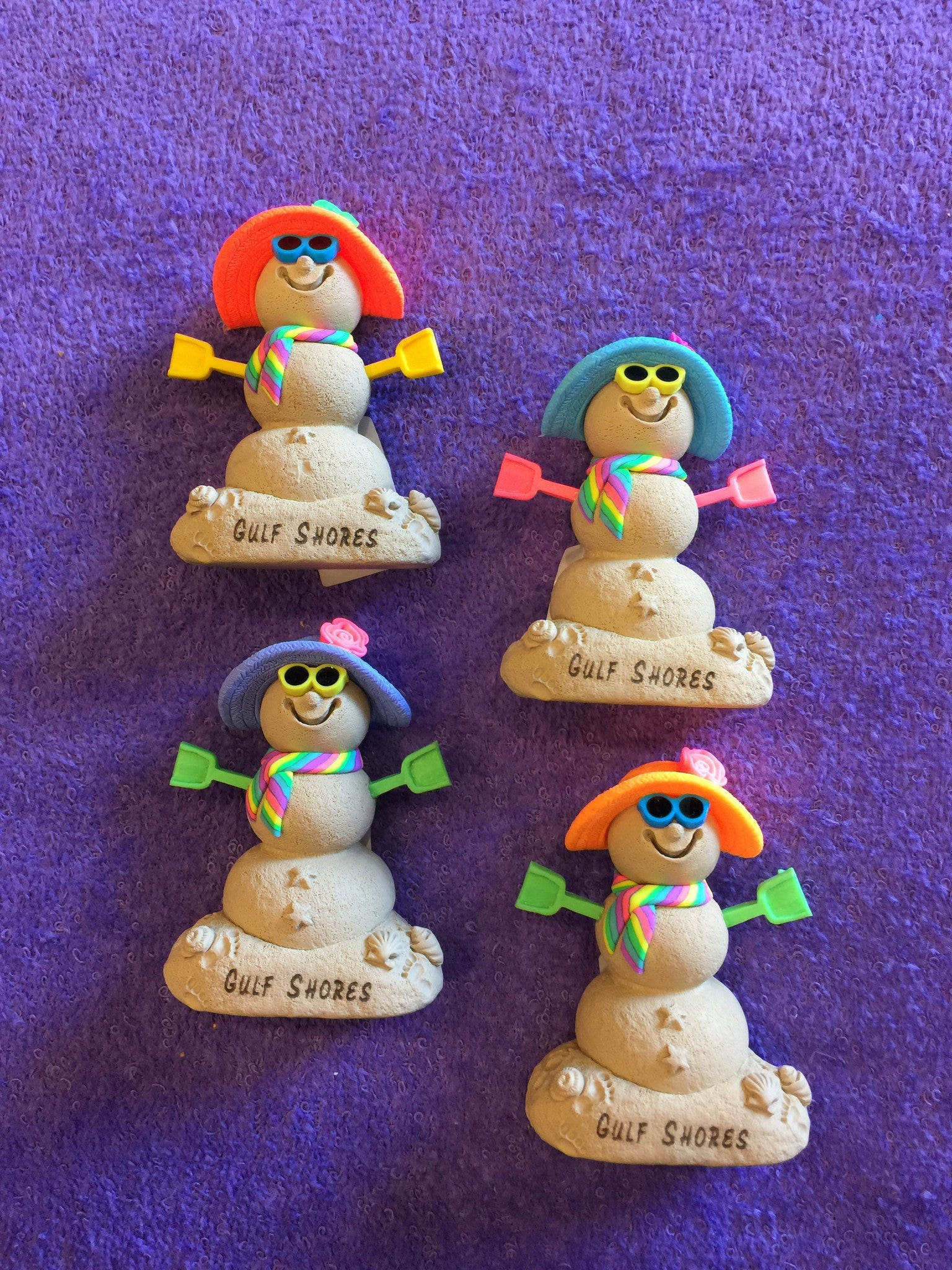 Clay Critters Sand Snowman Magnet