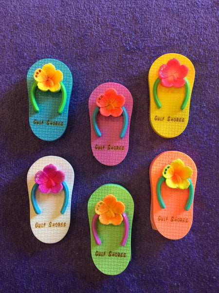 Clay Critters Flip Flop Magnet