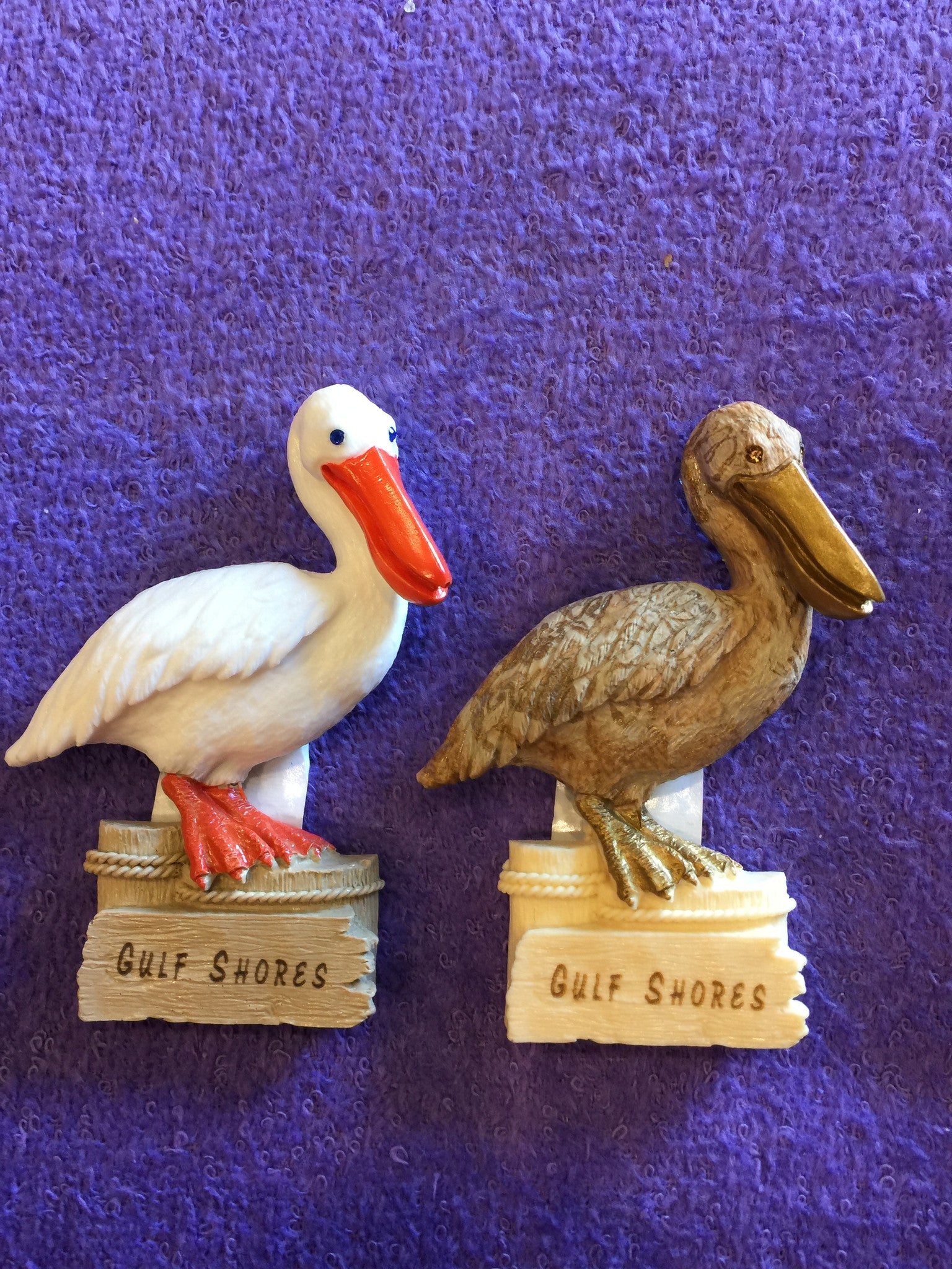 Clay Critters Pelican Magnet