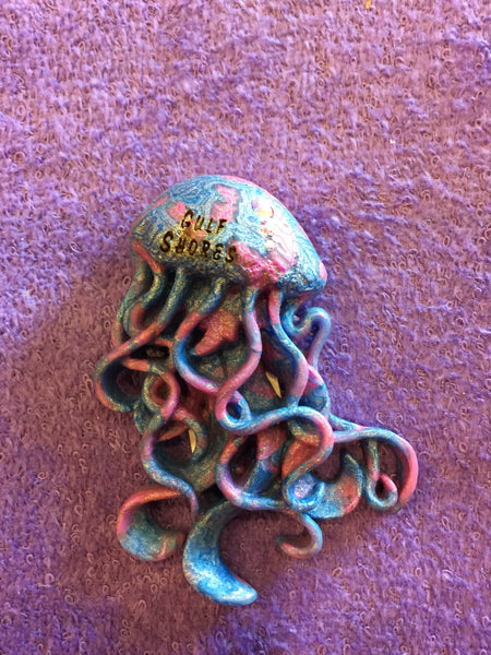 Clay Critters Jellyfish Magnet
