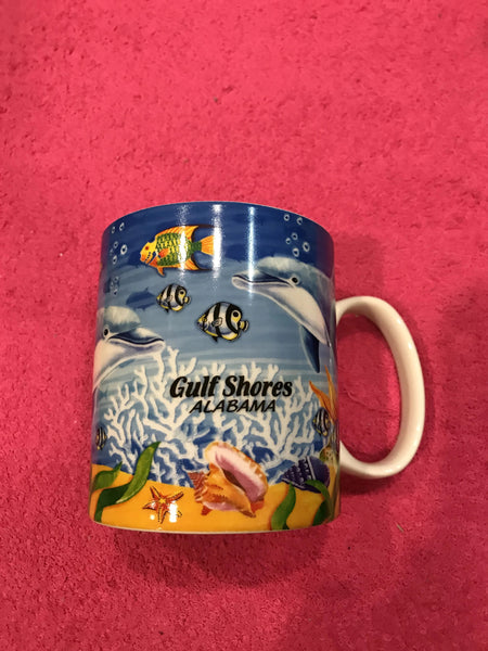 Colorful Dolphin Coffee Cup