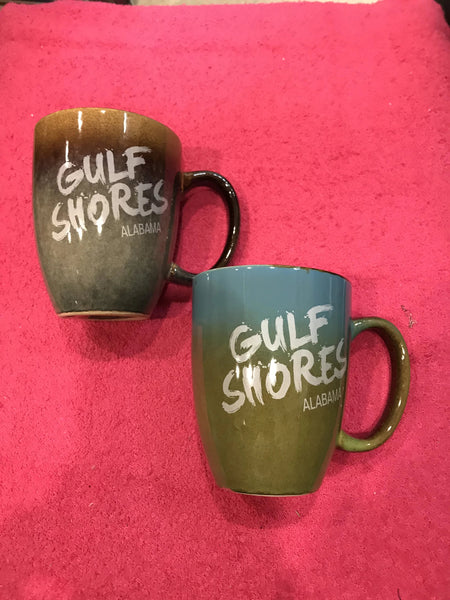 Glazed Gulf Shores Coffee Cup
