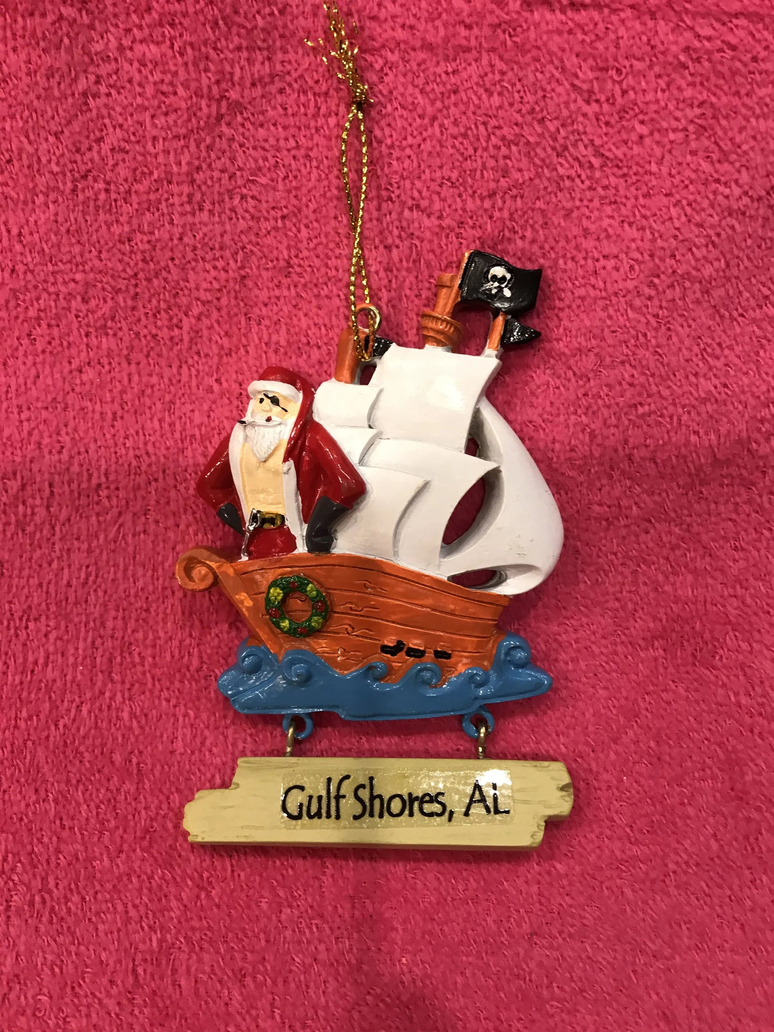 Santa Claus Pirate Ornament
