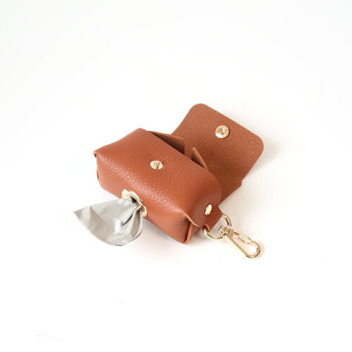 Fine Doggy Leather Poop Bag Holder