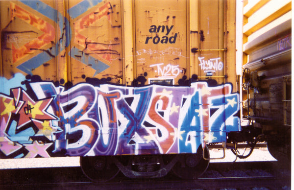graffiti street art spray paint aerosol art urban artist interview flynt tvs kaw mural muralist west coast freights benching trains