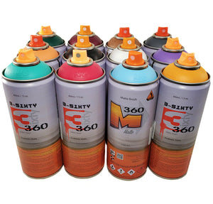 3-Sixty Matte 400ml Spray Paint Alternative Kit 12 Colors
