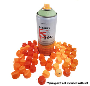 50 pack - 3-Sixty Delta Caps 2-6 Professional Spray Paint Nozzle Set