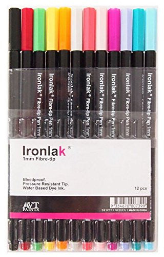 Ironlak 1mm Fibre-tip Pen Set (12 Colors) Series 1 - InfamyArt