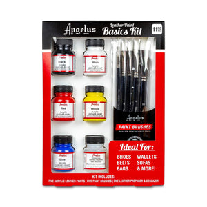 Angelus Leather Acrylic Paint Basics Kit