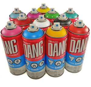 DANG spray paint set of 12 main colors
