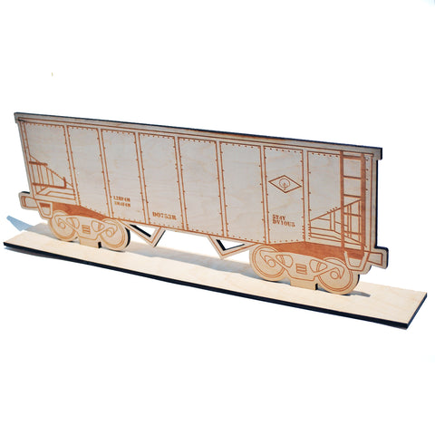 Dvious Covered Hopper Freight Train Wood Canvas