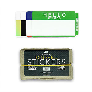 "Egg Shell Sticker ""Hello My Name Is Mixed"" Pack - 80pcs - InfamyArt - 3"