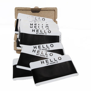 "Egg Shell Sticker ""Hello My Name Is"" Black Blanks Pack - 80pcs - InfamyArt - 2"