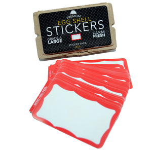 "Egg Shell Sticker ""Red Wavy Border Blanks"" Pack - 80pcs - InfamyArt - 4"