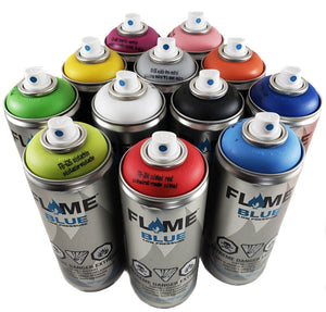 Flame Blue Low Pressure Spray Paint set of 12 Main Colors