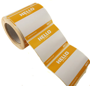 "Montana Cans ""HELLO MY NAME IS"" Sticker Roll of 500"