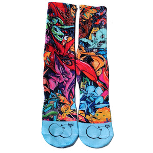Ill Skillz Clothing Full Print Socks - Limited Edition Signature Series Kever Ones