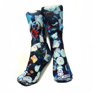 Ill Skillz Clothing Premium Full Print Street Art Socks - Dirty Tips