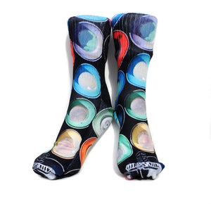 Ill Skillz Clothing Premium Full Print Street Art Socks - The Cans