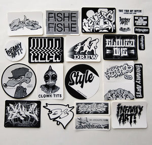 Infamy Art Friends and Family Sticker Pack Series 1 - Limited edition