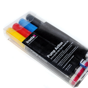 3mm Ironlak Pump Action Water- Based Acrylic Marker Set - Primary Colors