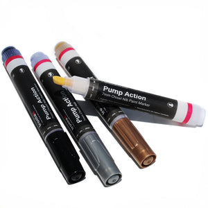 7mm Chisel Tip Ironlak Pump Action Water-Based Acrylic Marker Set - Creative Colors