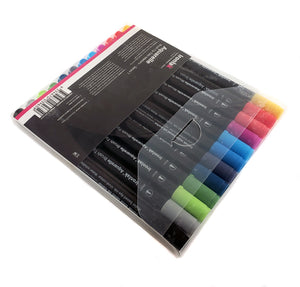 Ironlak Aquarelle Twin Tip Brush Marker Set - Series 1