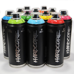 MTN Hardcore 2 - Spray Paint Set of 12 Popular Colors
