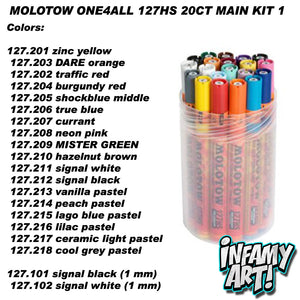Molotow One4All 127 HS Paint Markers 20 count Main Kit 1 - InfamyArt - 2