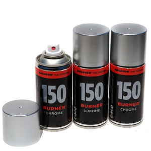 Molotow Pocket Burner Chrome 150ml Spray Paint set of 3