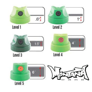 Montana Level 1-5 Spray Paint Cap Set of 50 - InfamyArt - 4