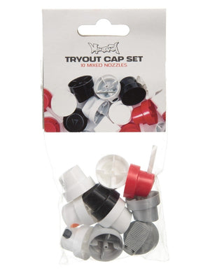 Montana Cans Tryout Cap Set - 10 Mixed Nozzles