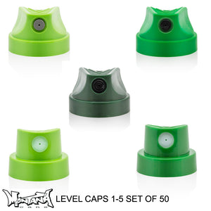 Montana Level 1-5 Spray Paint Cap Set of 50 - InfamyArt - 1