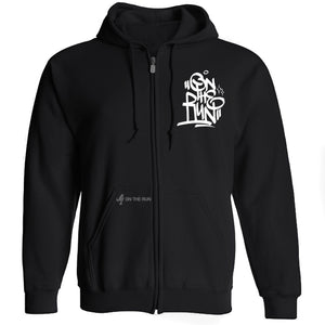 On The Run Logo Graffiti Hoodie