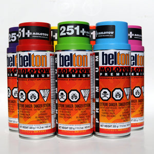 Molotow Premium Belton 400ml Spray Paint 12 Pack - Popular Colors - InfamyArt - 5