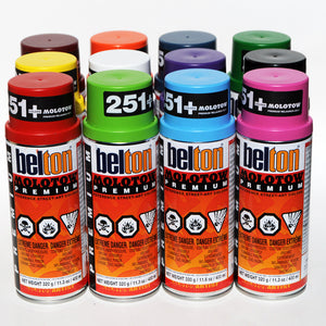 Molotow Premium Belton 400ml Spray Paint 12 Pack - Popular Colors - InfamyArt - 3