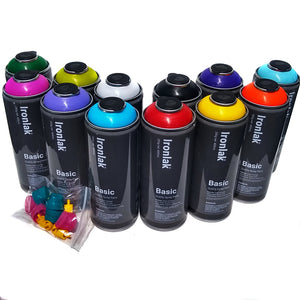 Ironlak BASIC 400ml Most Popular Colors Set of 12